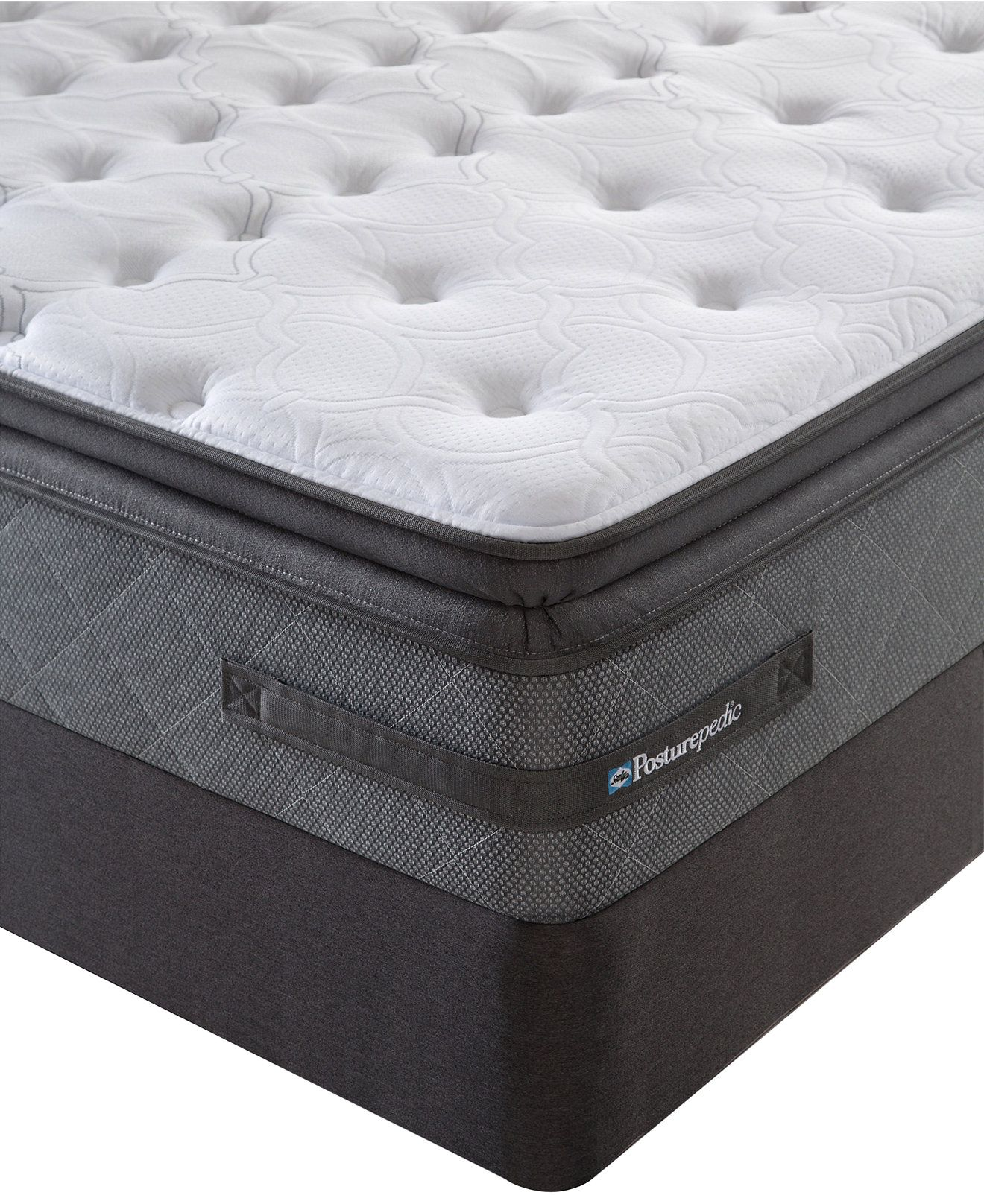 Mattress · Sealy Posturepedic Grant Park Cushion Firm Euro Pillowtop Queen  Split Mattress Set ...