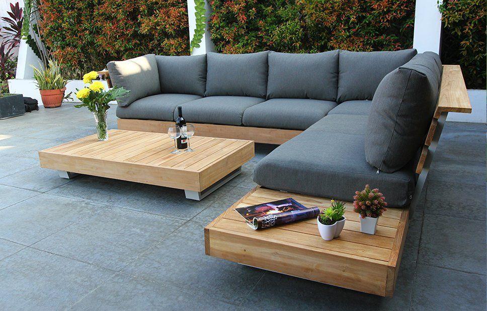 Image Result For Teak Garden Lounge Set Sitzbank Garten Aussenmobel Sitzen