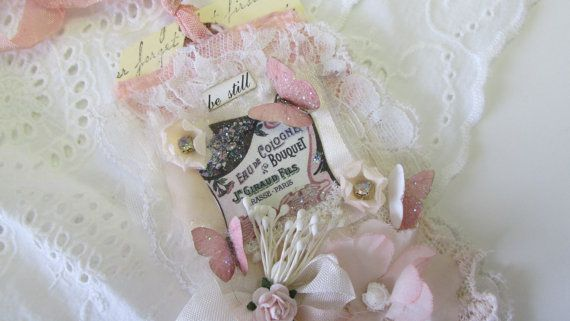 Wedding Gift Tag Handmade Tag  Lace Collage by underthenightmoon, $21.00