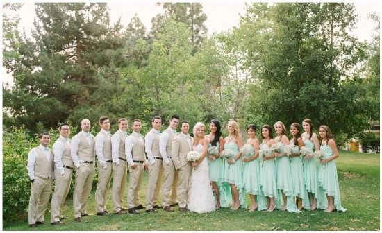 A Sweet Mint Green And Cream Wedding