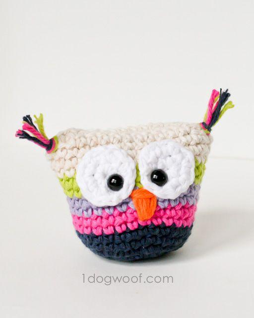 Crochet Owl Pouch with Pattern | Ganchillo, Monederos y Patrón gratis