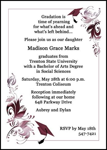 help with your university graduating ceremony invites and college - fresh graduation invitation maker online free