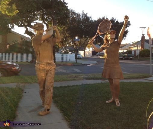 Golf & Tennis Trophies Costume | Tennis trophy, Homemade halloween ...