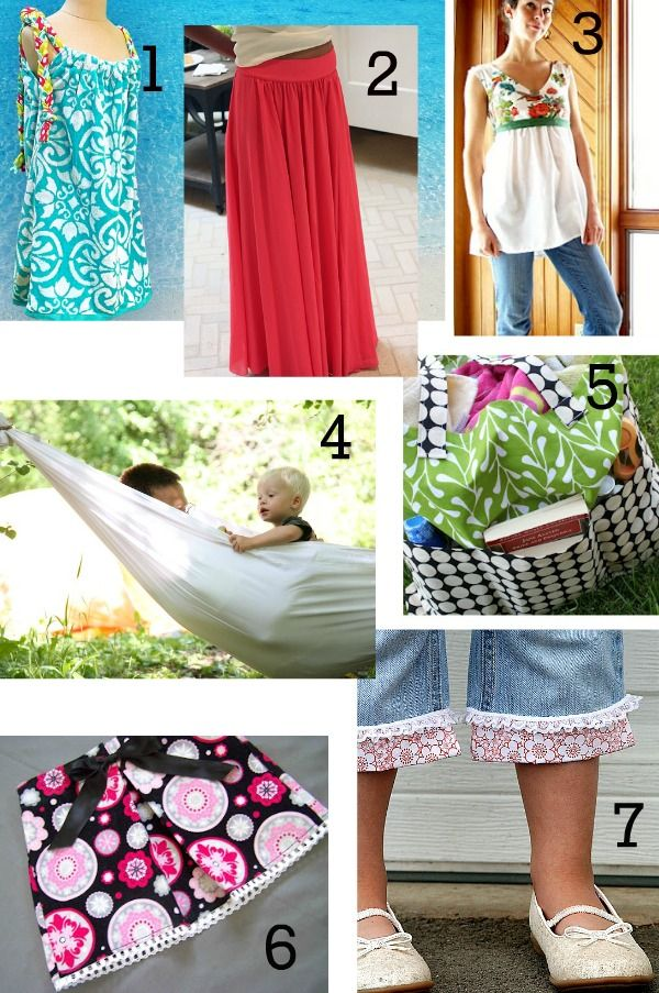 Summer Sewing Tutorials on The Mother Huddle. Especially love the ...