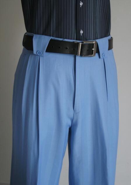 100 Lana Azul Cielo Wide Pants Pierna De Vestir Para Hombres En 125 Dolares Pantalones De Vestir Hombre Chalecos De Moda Hombre Camisas Hombre Vestir