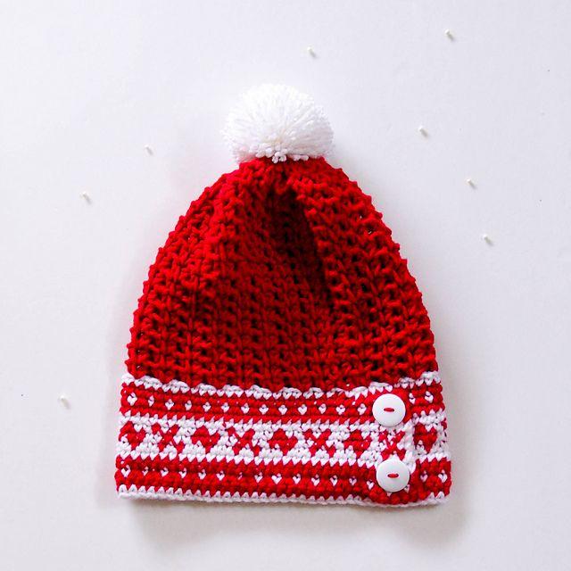 Free Crochet Pattern: Fair Isle Slouchy Hat – Make It Crochet ...