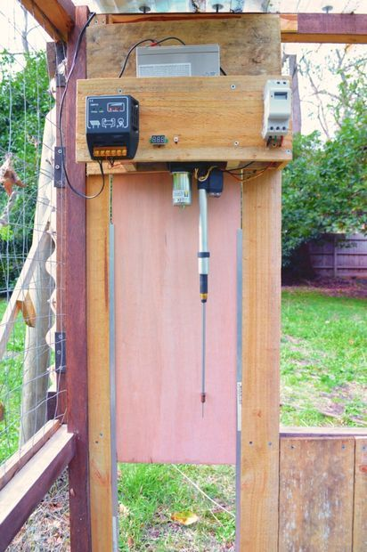 Simple Automatic Chicken Coop Door Chicken Diy Automatic Chicken Coop Door Chicken Coop