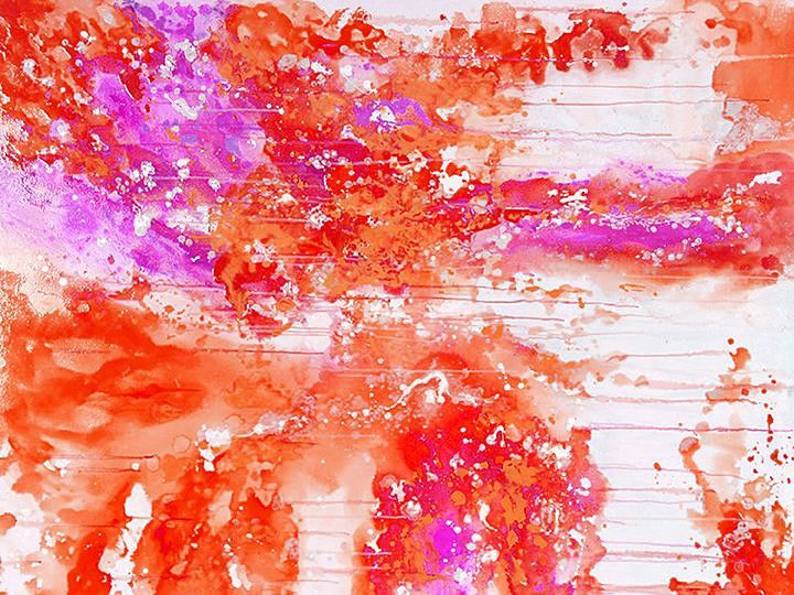 Coral Explosion Canvas - Leave Me Hanging - Temple & Webster presents