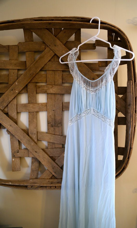 Vintage Vanity Fair Lingerie Blue Lace by SouthernWhimsicality, $17.00