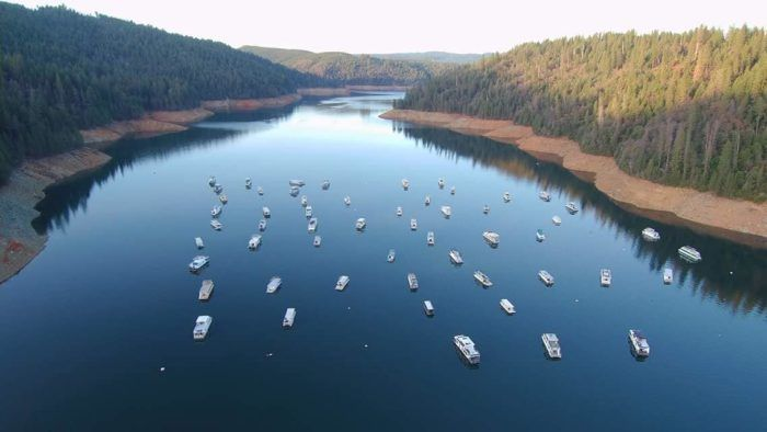 This Houseboat Campground On A Northern California Lake Is ...
