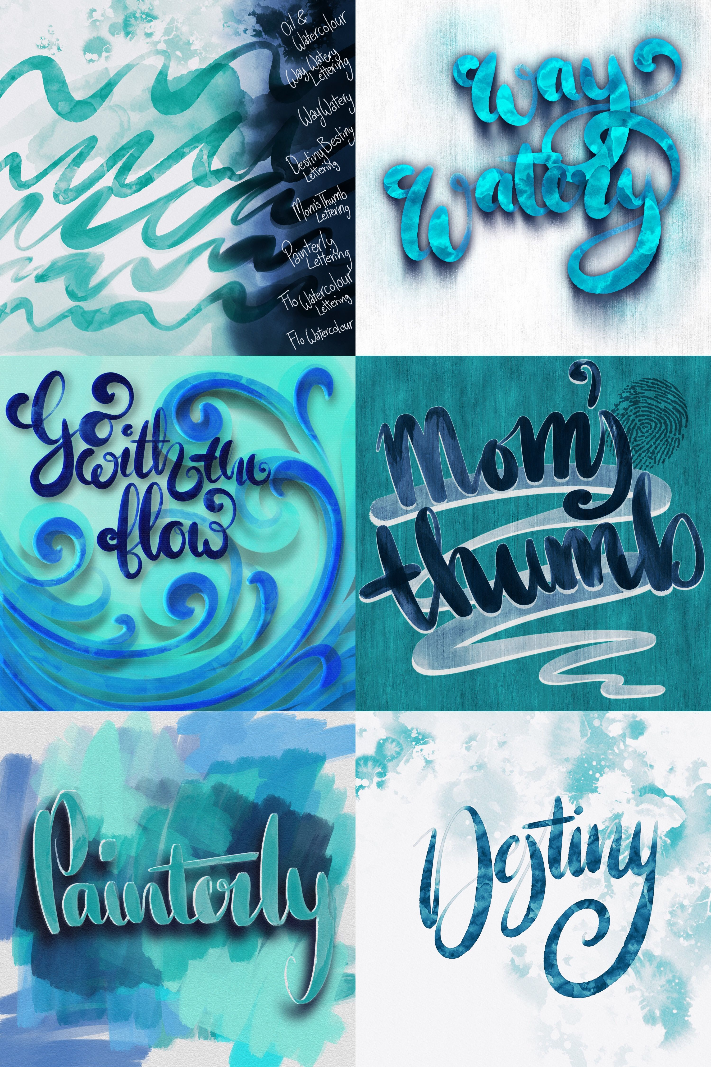 Free Watercolor Lettering Brushes For Procreate With Images