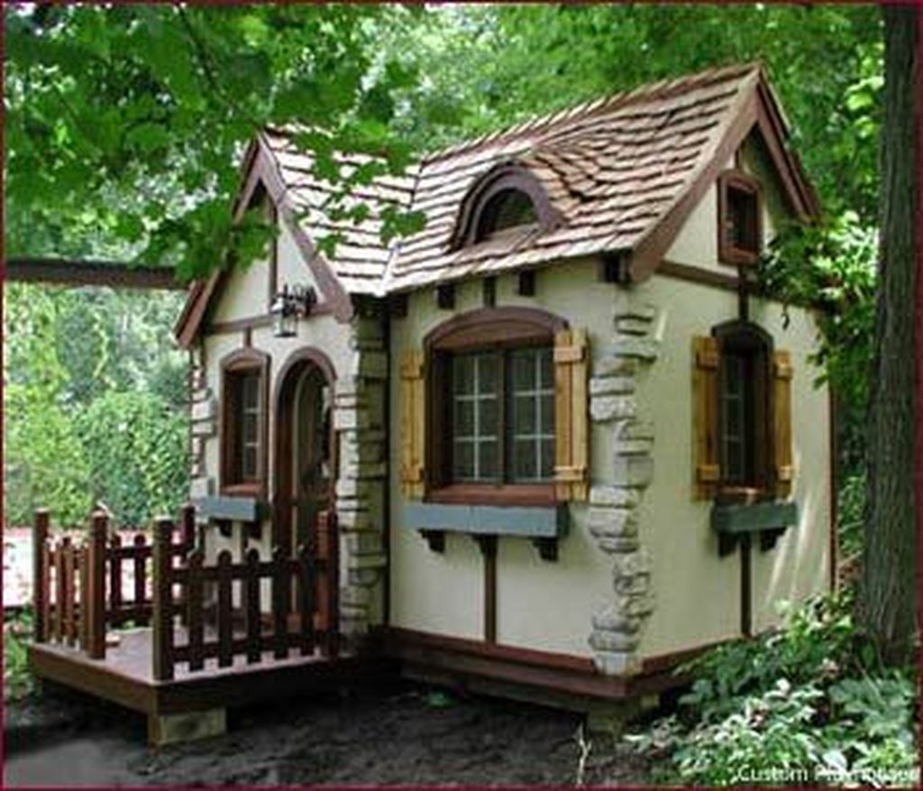 Nice 40 Charmed Playhouse Ideas Tiny Cottage Architecture Cottage