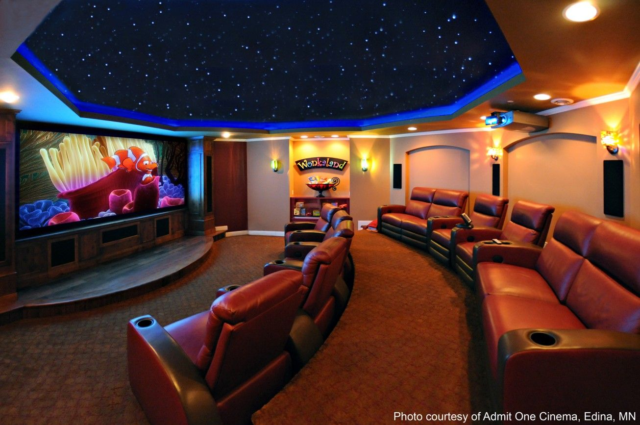 amazing home theater designs. home movie theater  Amazing Movie Theater Room Ideas With Cozy Red Leather Home