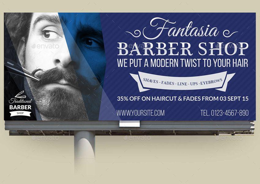 Barber Shop Billboard Template Vol.2 Beauty packaging