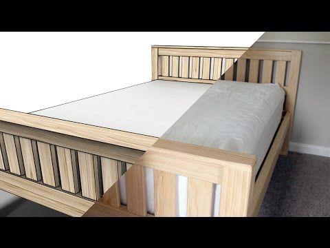 YouTube   Wood works   Pinterest   Diy bed frame, Diy platform bed ...