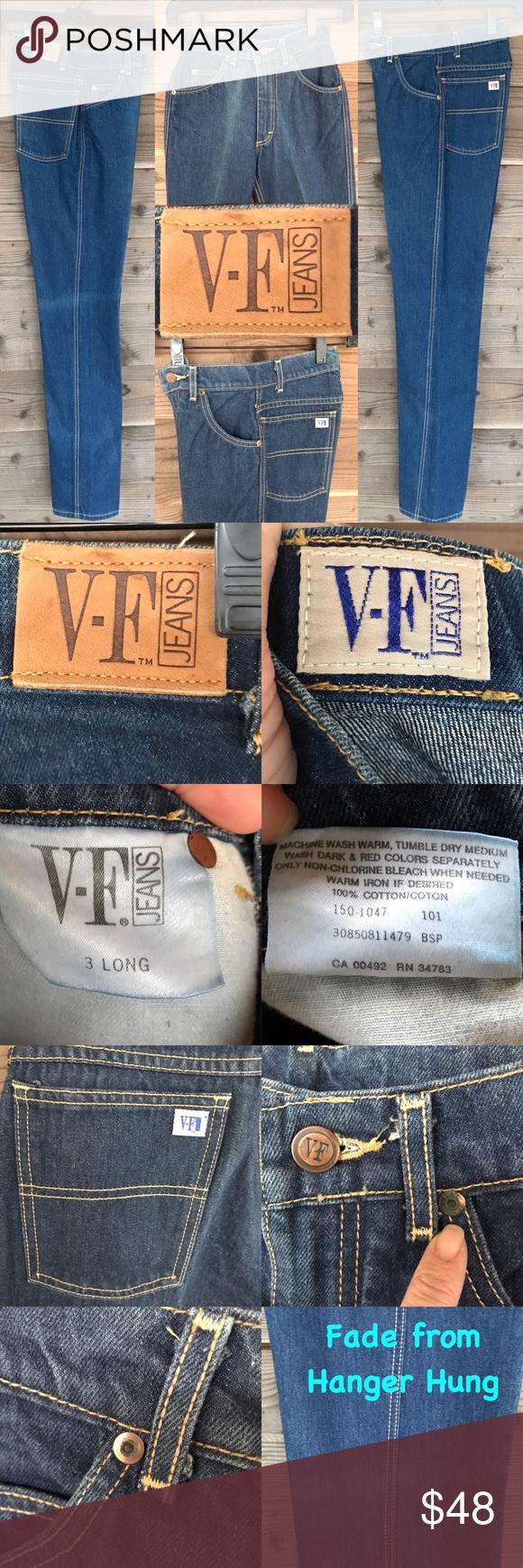 V F Jeans Vintage Creased Mom Jeans Sz 3 Long Mom Jeans Vintage Jeans Jeans Material