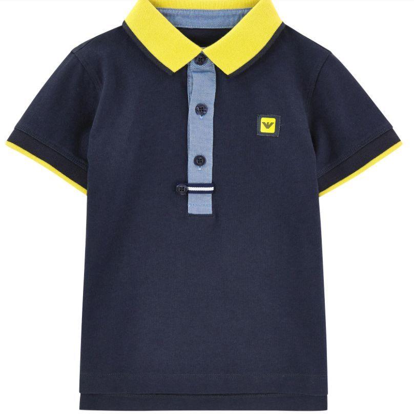 Armani Boys Cotton Piqué Poloshirt