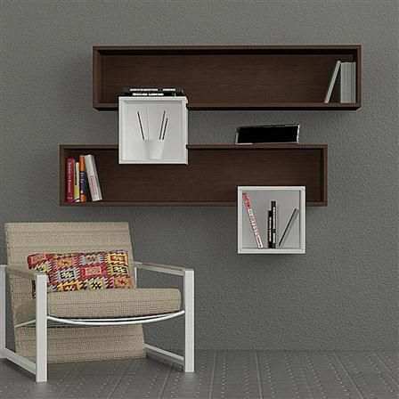 Salad Wall Shelf, Wenge/White | Идеи для украшения, Мебель ...