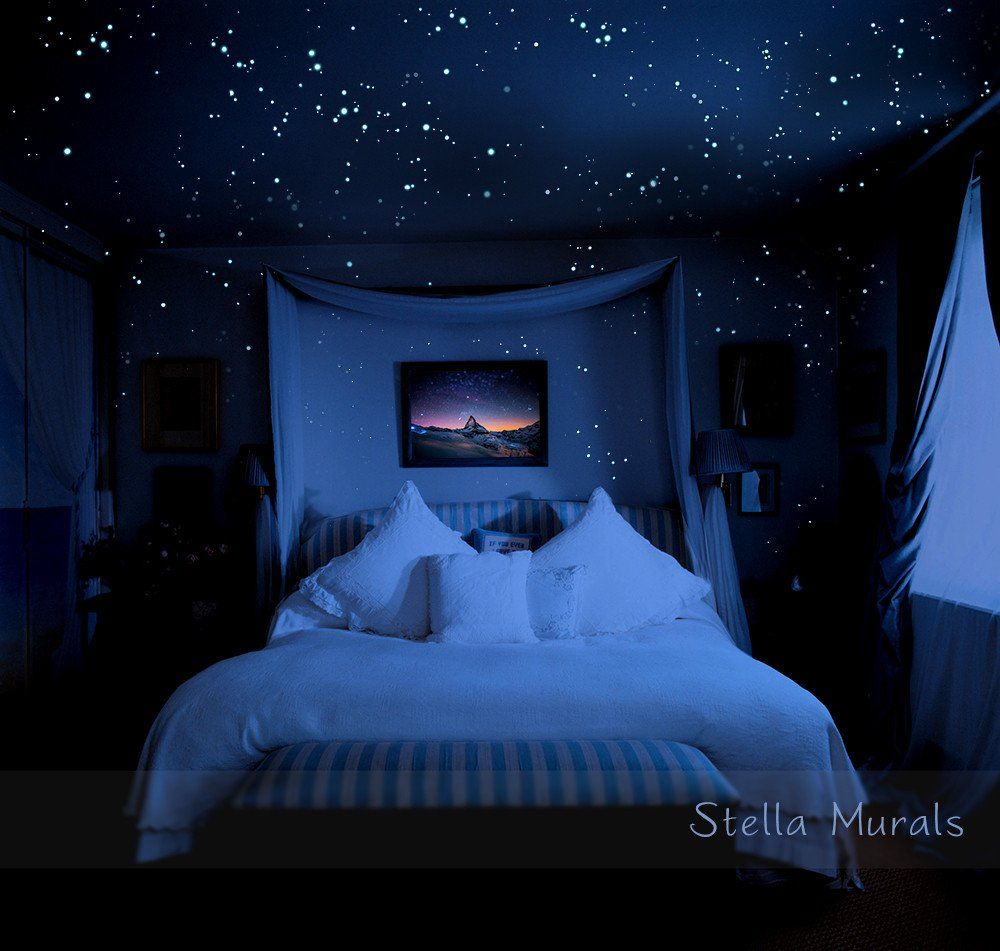 Glow in the dark star stickers for a realistic night sky ceiling