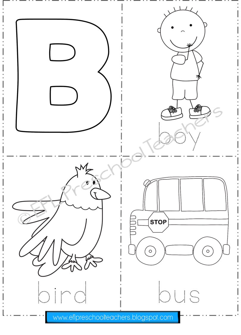 Alphabet Printable Flashcards and Posters for Preschool