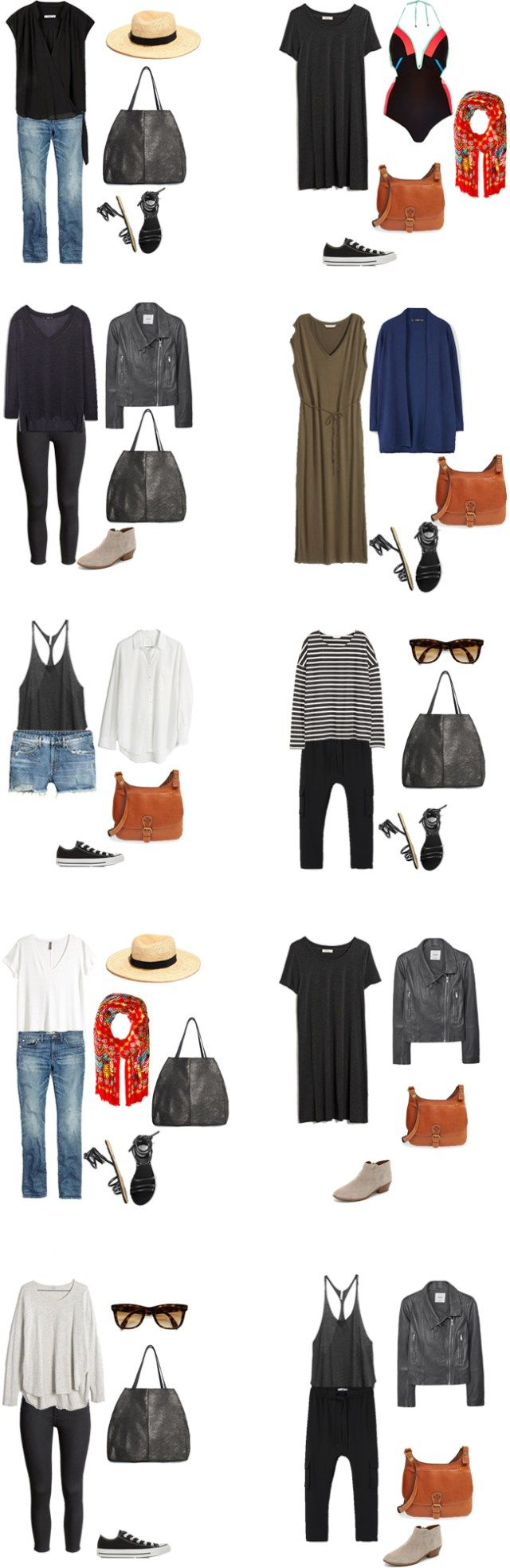 What tp Wear in Greece and Belgium Outfit Options 21-30 #packinglight #travellight #traveltips #travel