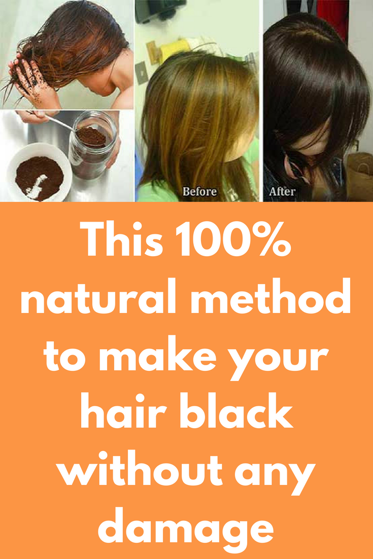 This 100 Natural Method To Make Your Hair Black Without Any Damage Grey Hair Or White H How To Darken Hair Hair Color For Black Hair Cover Gray Hair Naturally
