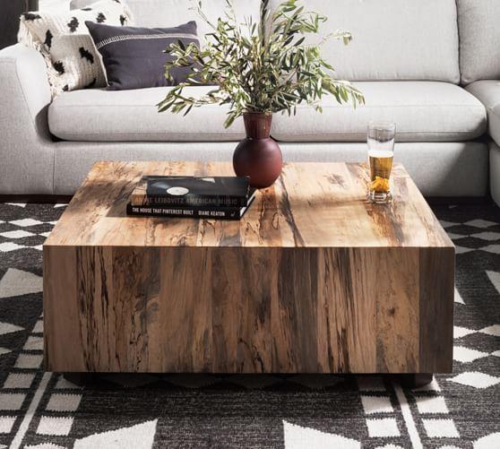 Terri 40 Cube Coffee Table Square Wood Coffee Table Coffee Table Coffee Table Square