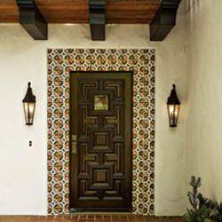 Front Door Tile Lakewood Dallas Mediterranean Entry More Design Build