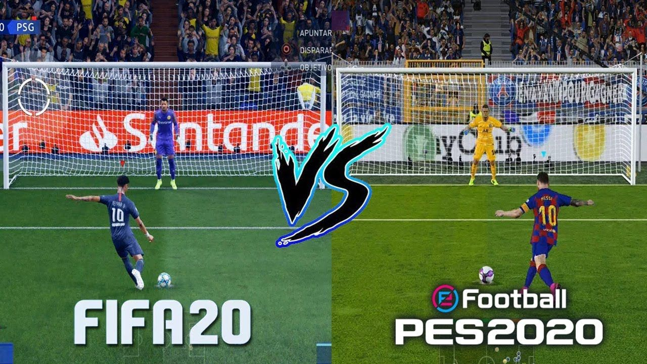 Fifa 20 Vs Pes 2020 Gameplay Comparison Graphics Penalties Free