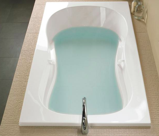 Azur #therapeutic #bathtub By #BainUltra.   3 Wall Alcove Or Drop In #tub.  Curved Lines Invite Total #relaxation And Enhance The #benefits Of  Hydro Thermo ...