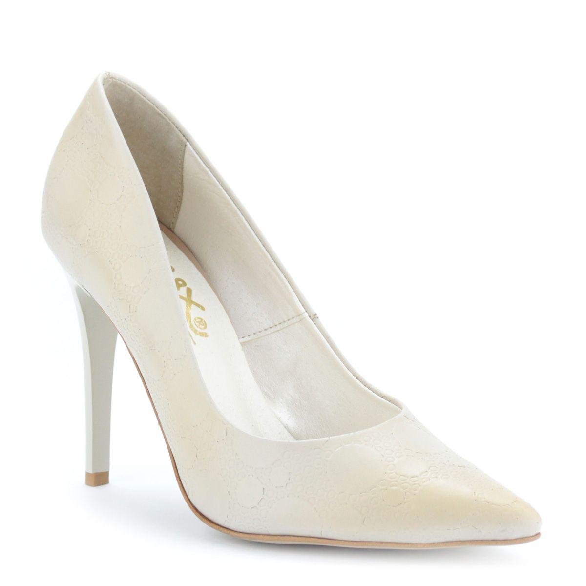 Magas sarkú bézs színű Lux női cipő  9952f035cc