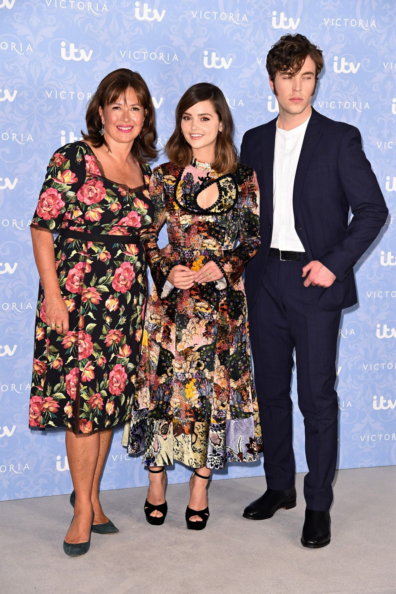 Jenna Coleman, Daisy Goodwin and Tom Hughes at the ...