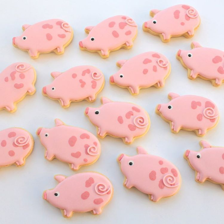Pig Cookies By Miss Biscuit Oink Royalicing Cake Desserts