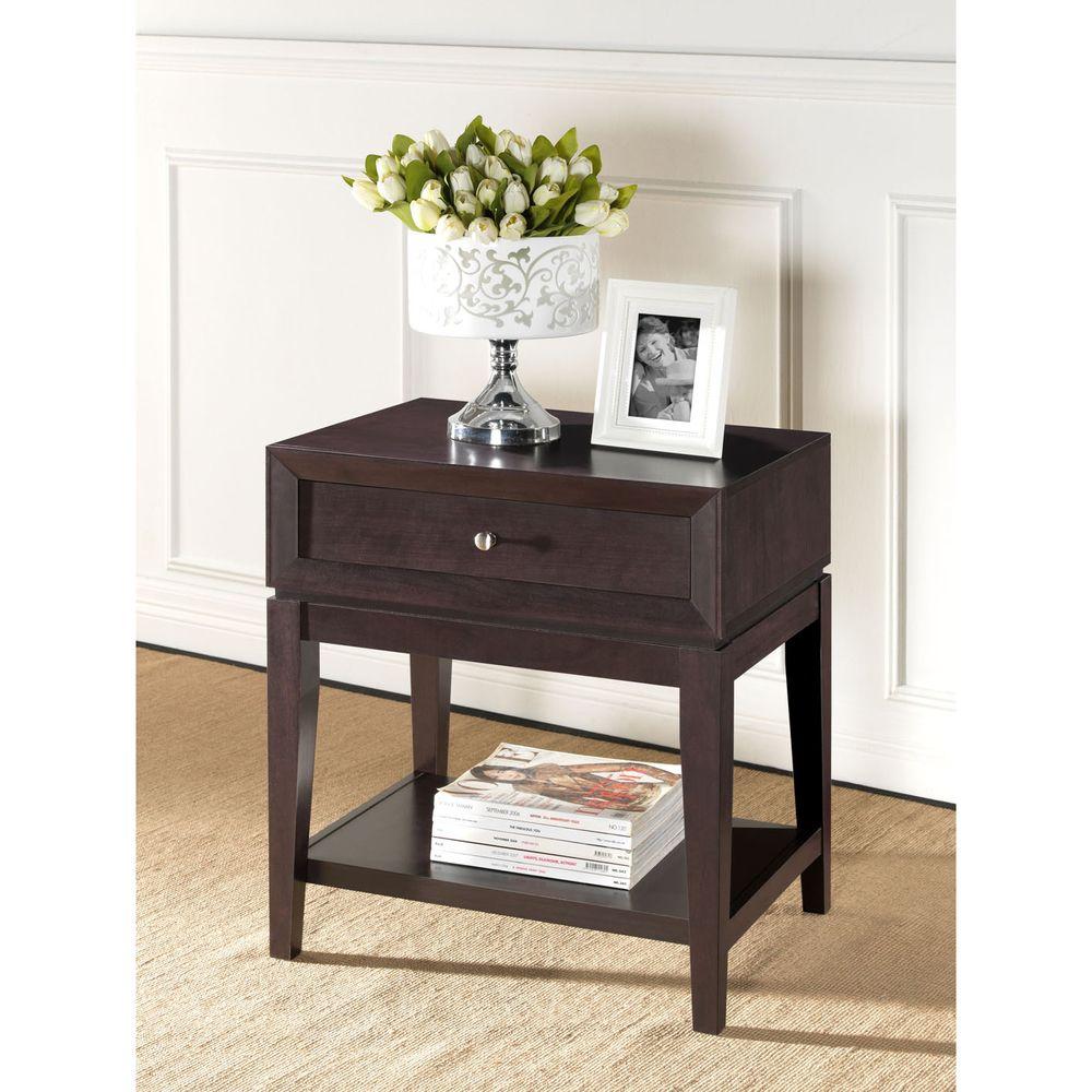 Best Morgan Brown Modern Nightstand Overstock Com Shopping 640 x 480