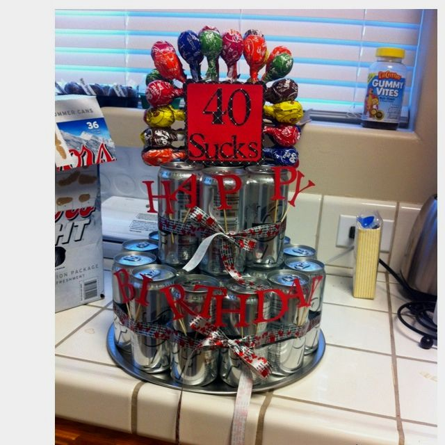 For my brothers 40th Birthday Adult beverages Pinterest 40