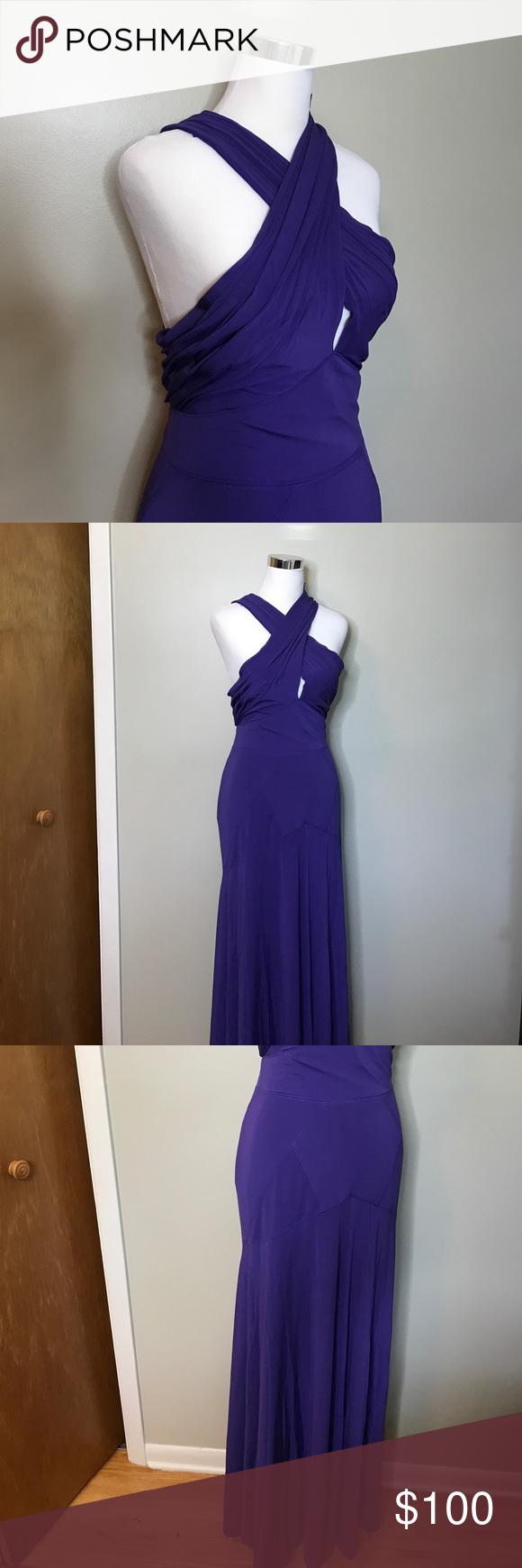 Bcbgmaxazria purple evening gown max dress purple evening gowns