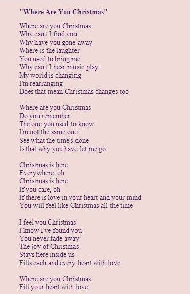 where are you xmas lyrics