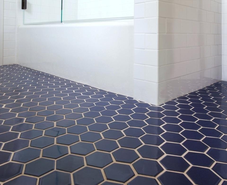 Image result for black and blue bathroom Blue tile floor