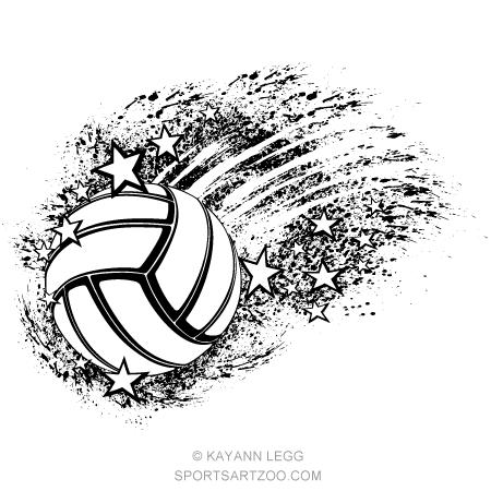 Volleyball Star Grunge Splatter Sportsartzoo Volleyball Designs Volleyball Drawing Volleyball Shirt Designs