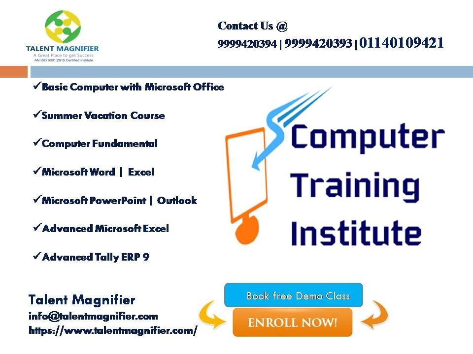 Are You Looking For Basic Advanced Computer Course In Delhi If