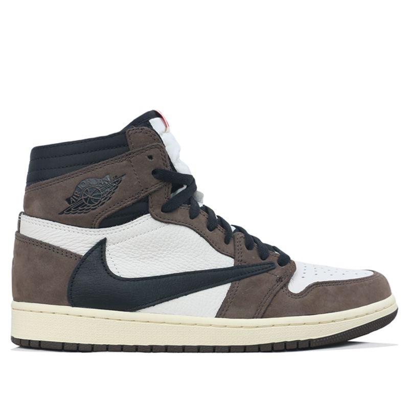 Nike Air Jordan 1 High Og Ts Sp Travis Scott Mocha Cd4487 100 Kickscrew Nike Air Jordan Air Jordans Jordan 1 High Og