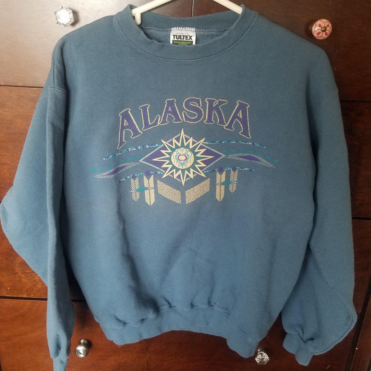 Vintage Vtg Alaska Blue Crewneck Sweatshirt Old Depop Vintage Crewneck Sweatshirt Crewneck Sweatshirt Outfit Crew Neck Sweatshirt [ 1280 x 1280 Pixel ]