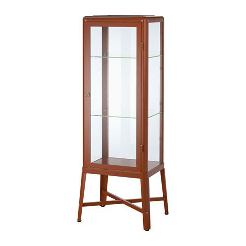 I Must Have This Fabrikr Glass Door Cabinet Red Brown Brown