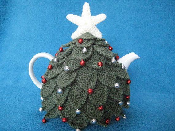 Weihnachtsbaum Teekannenwärmer /Tea Cozy | Teekannenwärmer ...