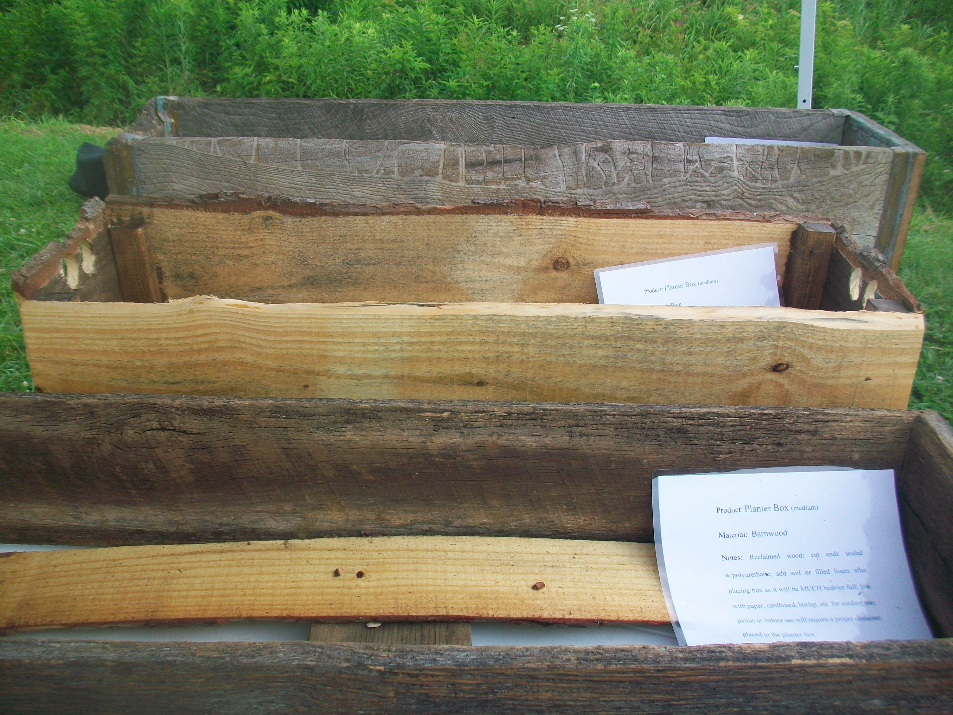 Reclaimed barn wood and pine planter boxes. | Planter ...