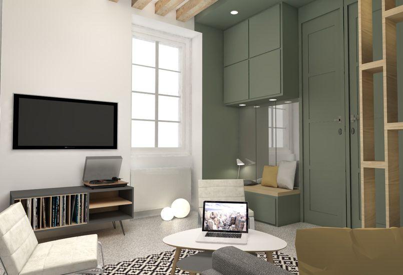 Petite surface architecte interieur am nagement studio - Architecte interieur paris petite surface ...