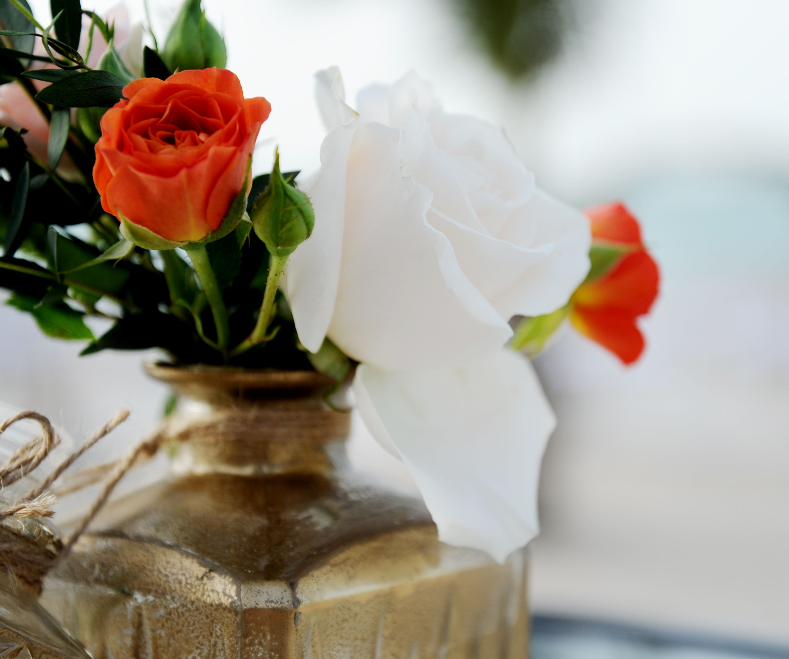 orange wedding theme. floral design. centerpieces. orange. dubai ...