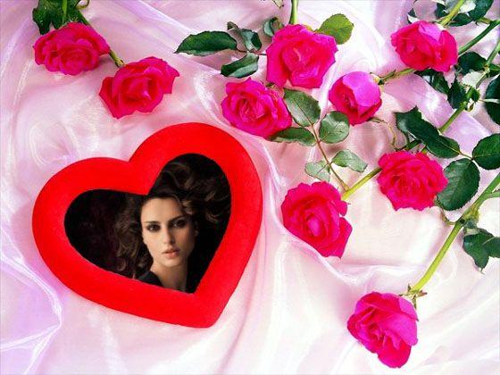 Imagenes De Amor Con Efectos: Montajes Con Rosas Y Corazones.