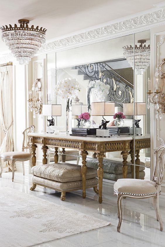 El dise o de interiores de estilo cl sico es la for Decoracion de interiores de casas estilo clasico