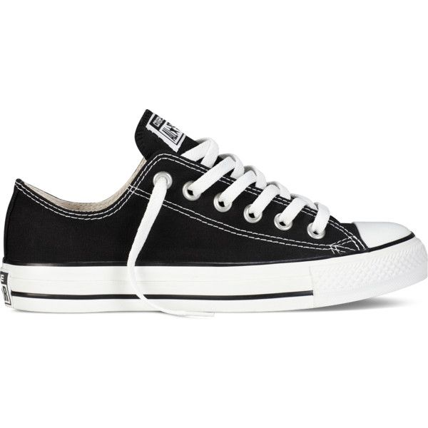 Converse Chuck Taylor All Star Classic Colors – black Sneakers ($50) ❤ liked on Polyvore featuring shoes, sneakers, converse, black, converse footwear, converse trainers, rocker shoes, converse shoes and kohl shoes